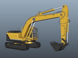 Hydraulic Excavator 3d preview