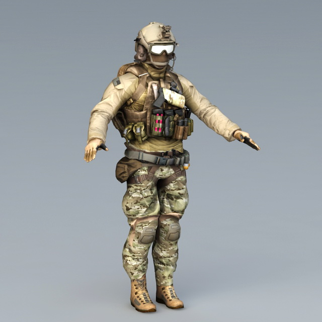 Navy Seals Special Forces 3d Model 3ds Max Object Files