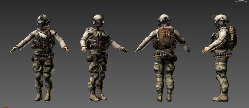 Navy SEALs Special Forces 3d model 3ds Max,Object files free
