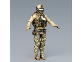 Navy SEALs Special Forces 3d model