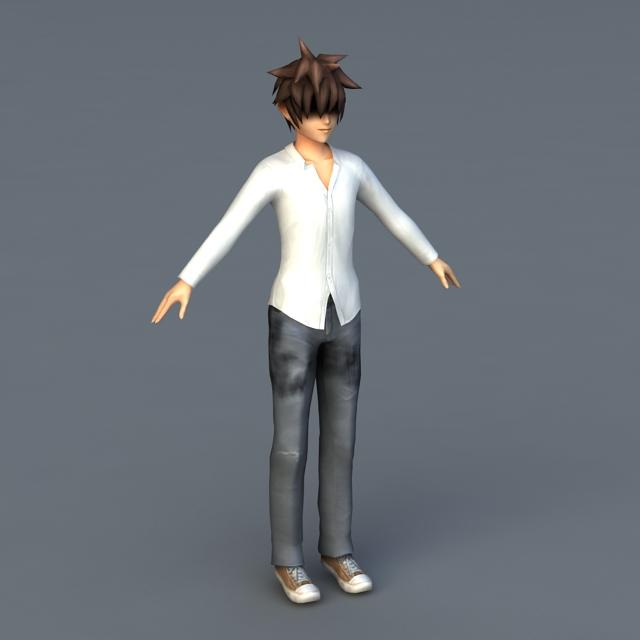 Cute Scene Guy 3d model