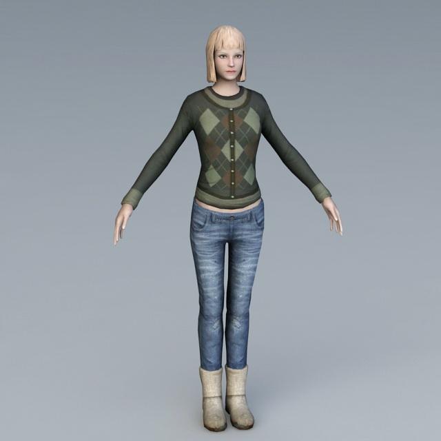 Citizen Girl 3d model