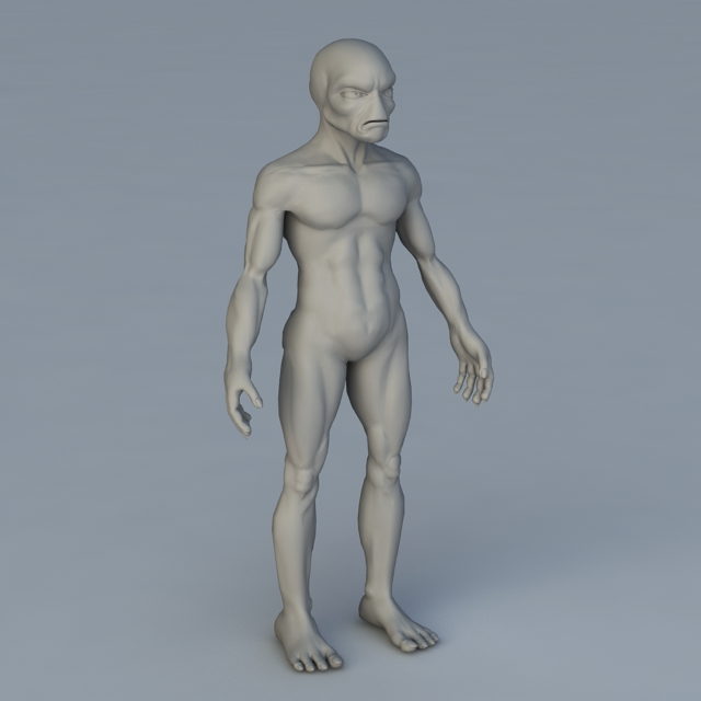 Alien Creature 3d model 3ds Max,Object files free download
