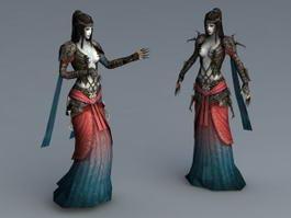 Evil Sorceress Rig 3d model