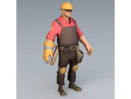 TF2 Engineer Rig 3d model