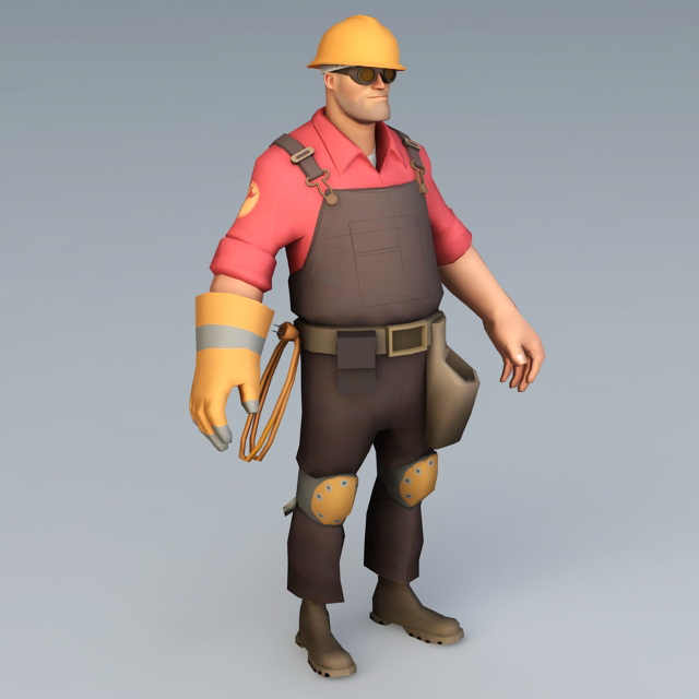 Tf2 Engineer Rig 3d Model 3ds Max Object Files Free