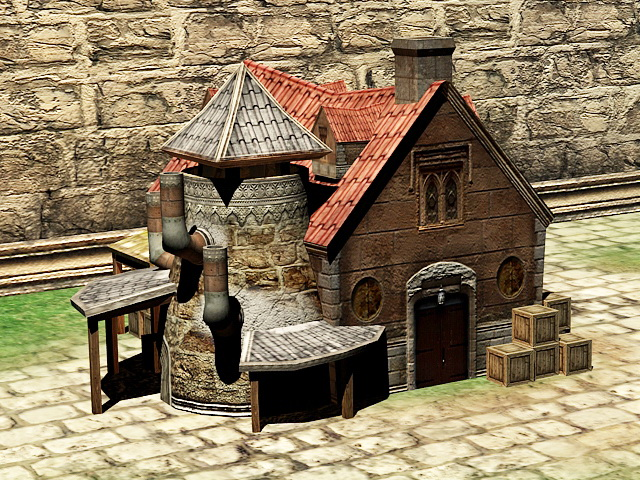 Medieval Blacksmith Forge 3d Model 3ds Max Files Free