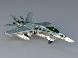 F 18 Hornet Aircraft 3d model