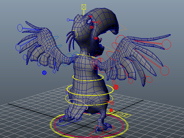 Cartoon Bird Rig 3d Model Maya Files Free Download