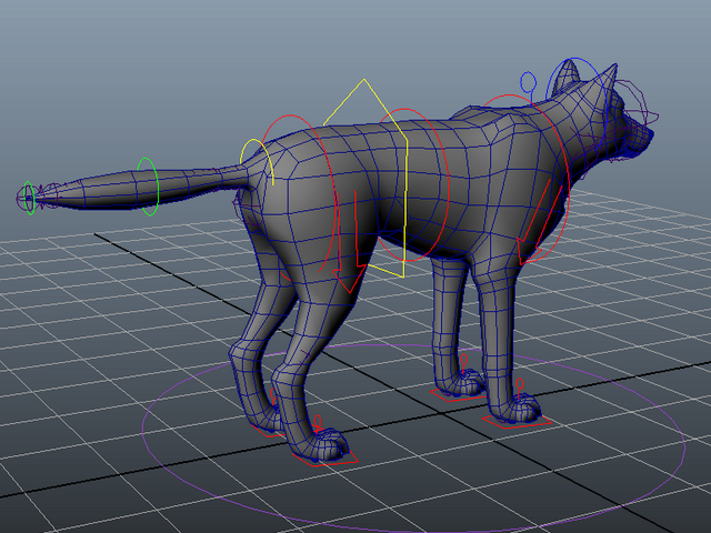 Wolf Rig 3d Model Maya Files Free Download Modeling