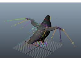 Pigeon Rig 3d model