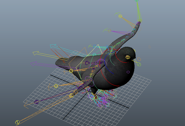 highly detailed 3d model of rock pigeon bird rigged available 3d model format mb autodesk maya texture format iff free download this 3d objects and