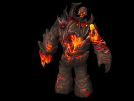 Magma Giant Monster 3d model