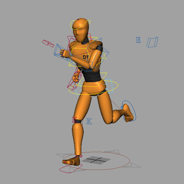 Animated Orange People 3d model