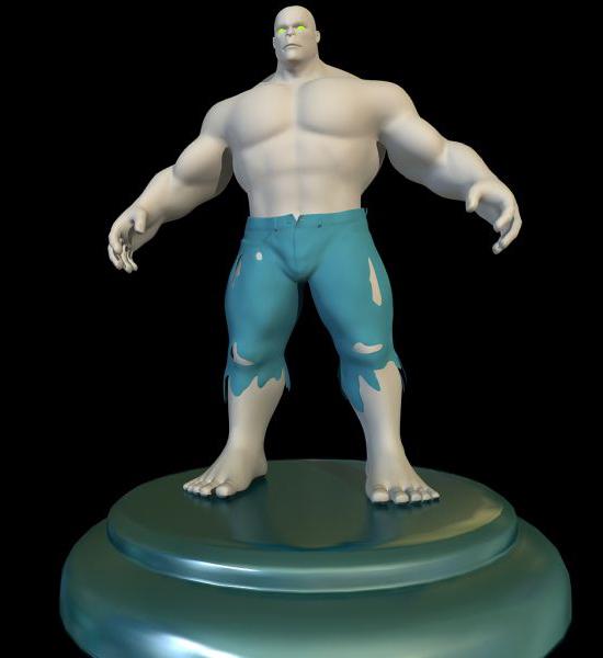 Hulk Figure 3d model