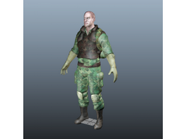 Army Soldier 3d model