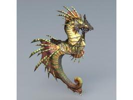 Seahorse Mount 3d model
