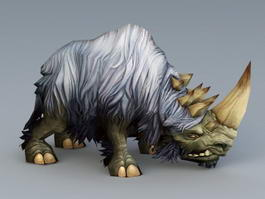 White Woolly Rhinoceros 3d model