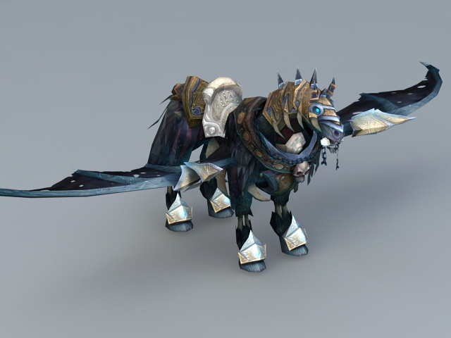 Winged Horse 3d model