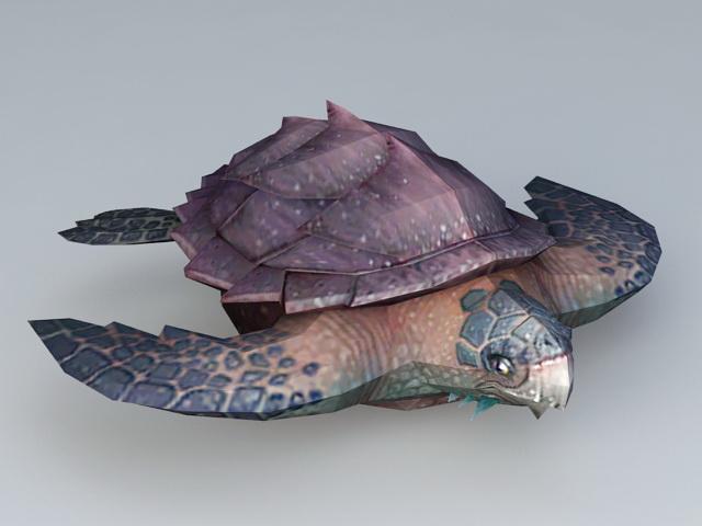 Deep Sea Turtle 3d model