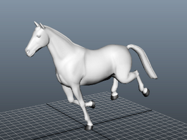 Animated Running Horse 3d model