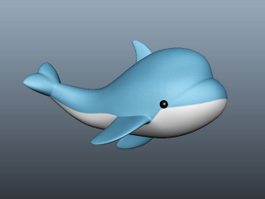 Cute Cartoon Dolphin 3d model