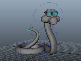 Cartoon Snake Rig 3d model
