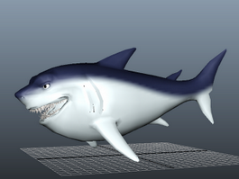 Big Fat Shark 3d model