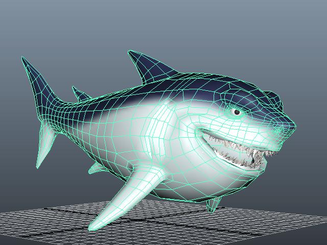 Big Fat Shark 3d model...