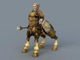 Old Centaur Warrior 3d model