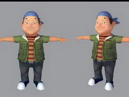 Little Boy Cartoon 3d model