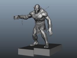 Half-orc Barbarian 3d model