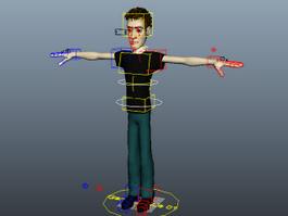 Young Man Rig 3d model