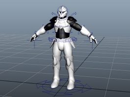 Sci-Fi Soldier Rig 3d model
