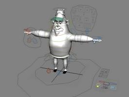 Cartoon Man Rig 3d model