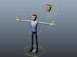 Sam Rigged 3d model