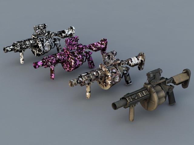 Milkor Multiple Grenade Launcher 3d model
