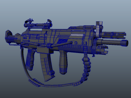 Heavy Combat Rifle 3d model
