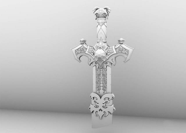 Broken Sword Blade 3d model
