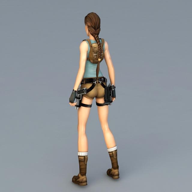 Tomb Rider Wallpaper: Tomb Raider Anniversary 3d Model 3ds Max Files Free