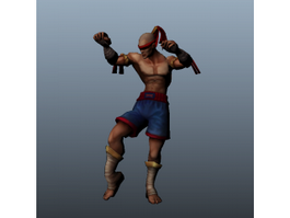 Muay Thai Warrior 3d model