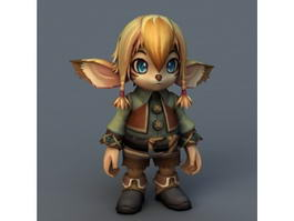 Kawaii Elf Girl 3d model