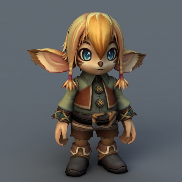 Kawaii Elf Girl 3d model Maya,Object files free download - modeling