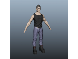 American Man 3d model