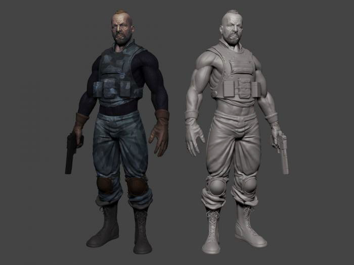Special Ops Soldier 3d Model Object Files Free Download