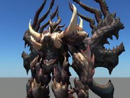 Evil Dragonkin Guardian Rig 3d model