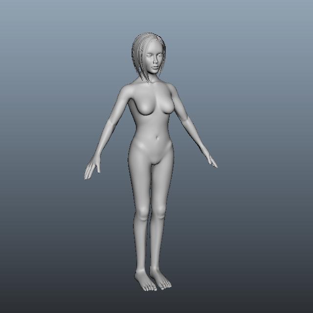 Adult Woman Body 3d model