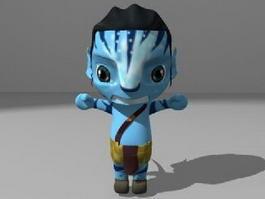 Avatar Film Man Cartoon 3d model