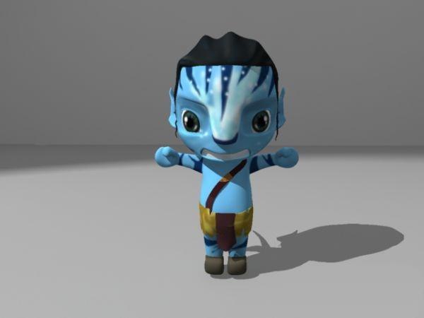 Avatar Film Man Cartoon 3d Model Maya Files Free Download Modeling