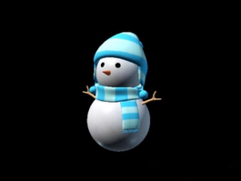 Christmas Winter Snowman 3d model